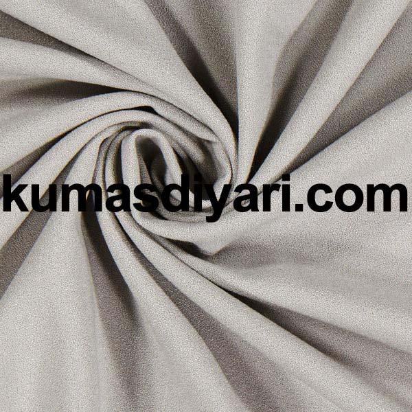 açık gri krep kumaş