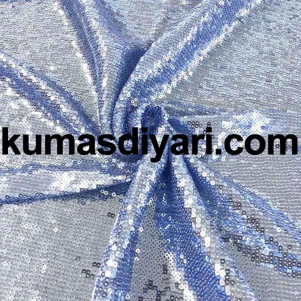 açık mavi payet kumaş 3mm