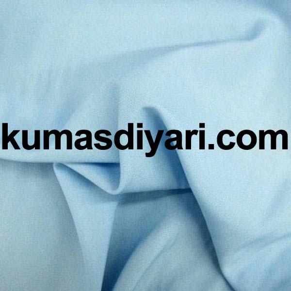 açık mavi poplin kumaş