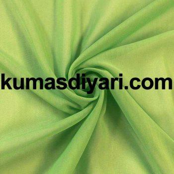 açık yeşil şifon kumaş