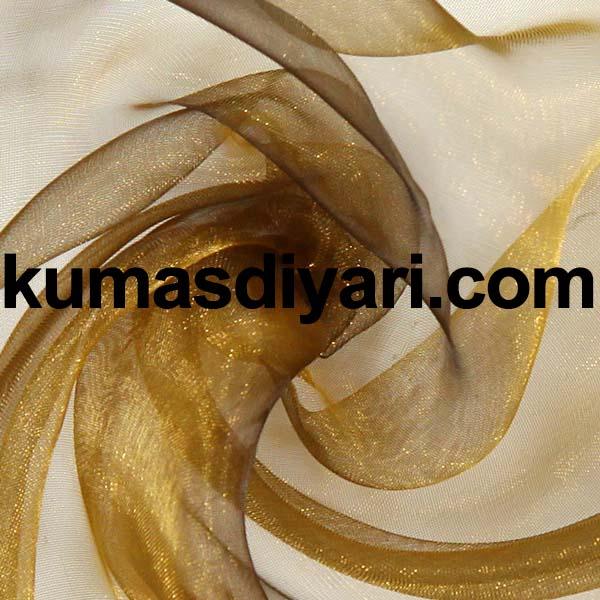 altın organze tül kumaş