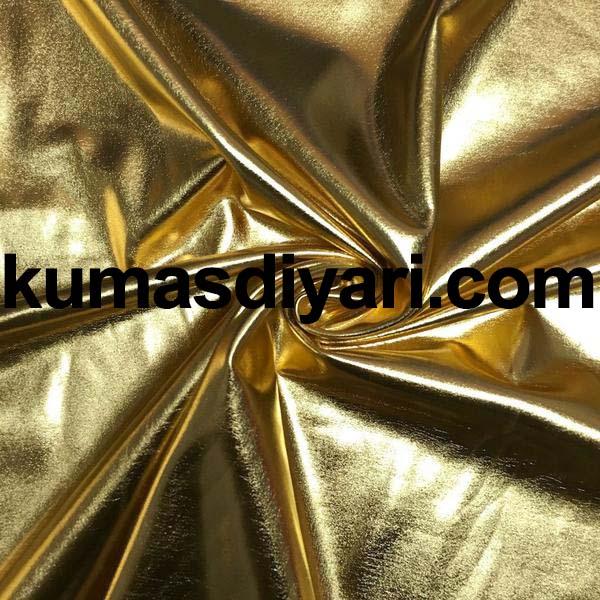 altın parlak kumaş