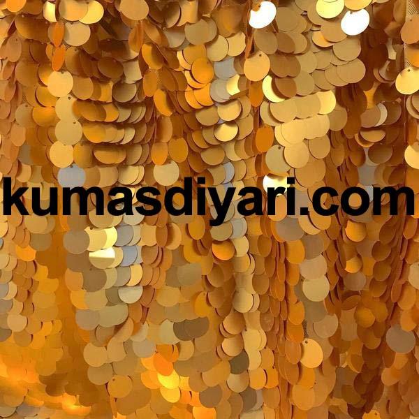 altın payet kumaş 7mm