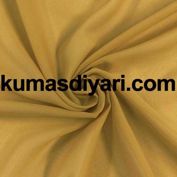 altın sarısı şifon kumaş