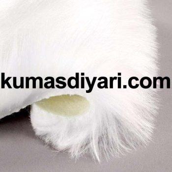 beyaz peluş kumaş