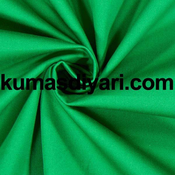 çim yeşili krep kumaş