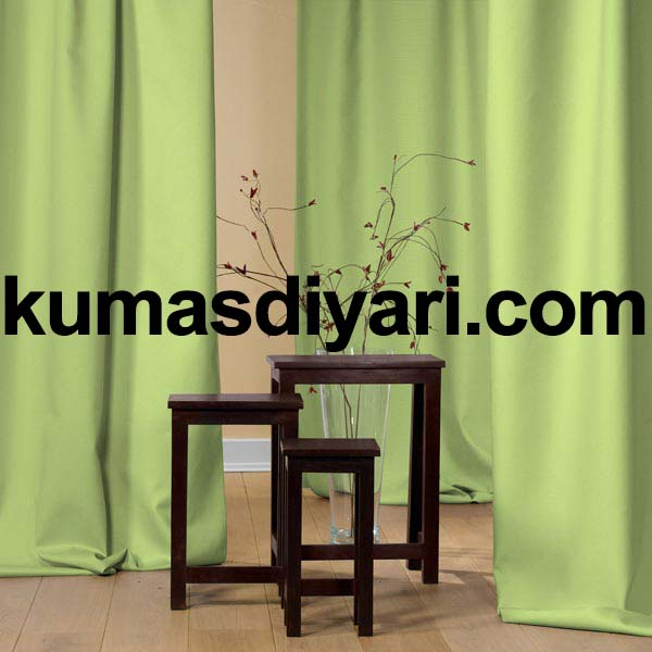 fıstık yeşili fon perde kumaş