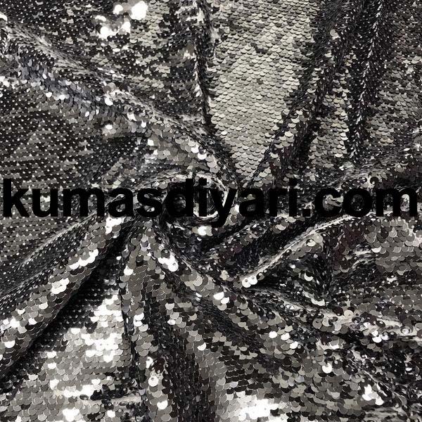 gümüş payet kumaş 5mm
