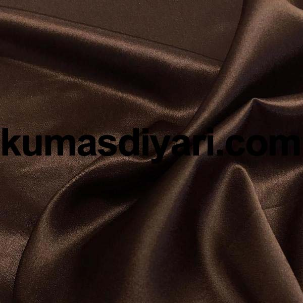 kahverengi saten kumaş