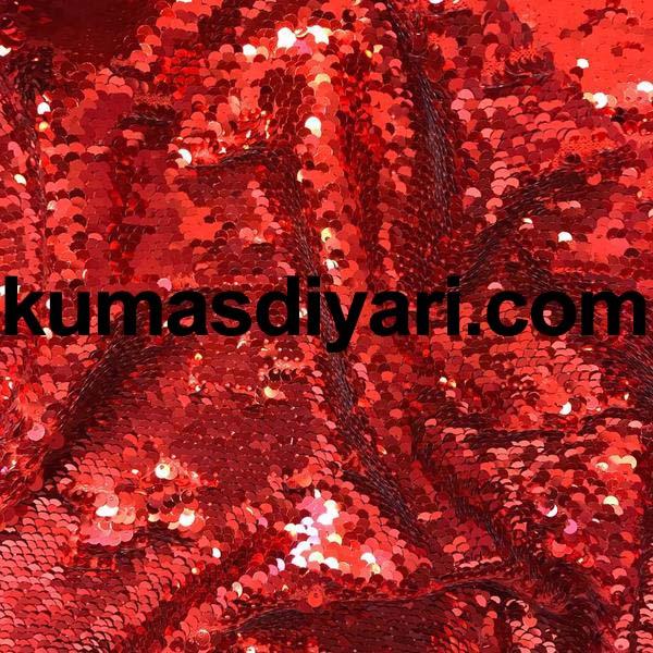kırmızı payet kumaş 5mm