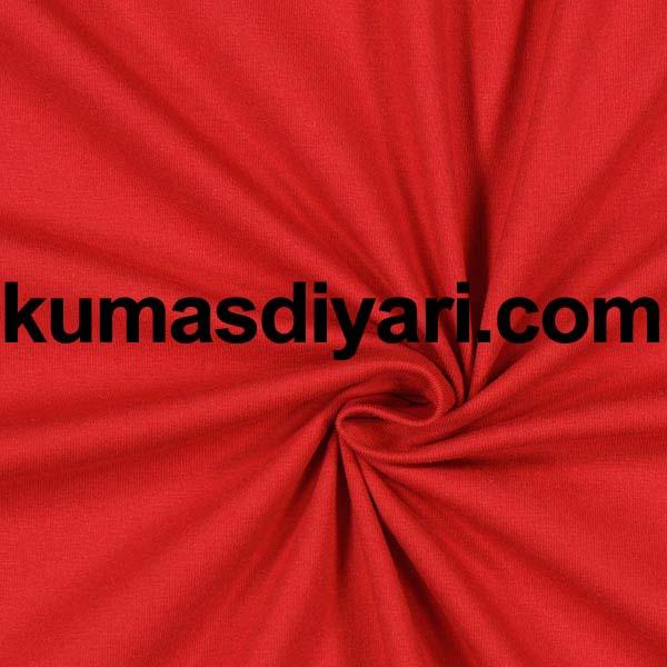 kırmızı penye kumaş