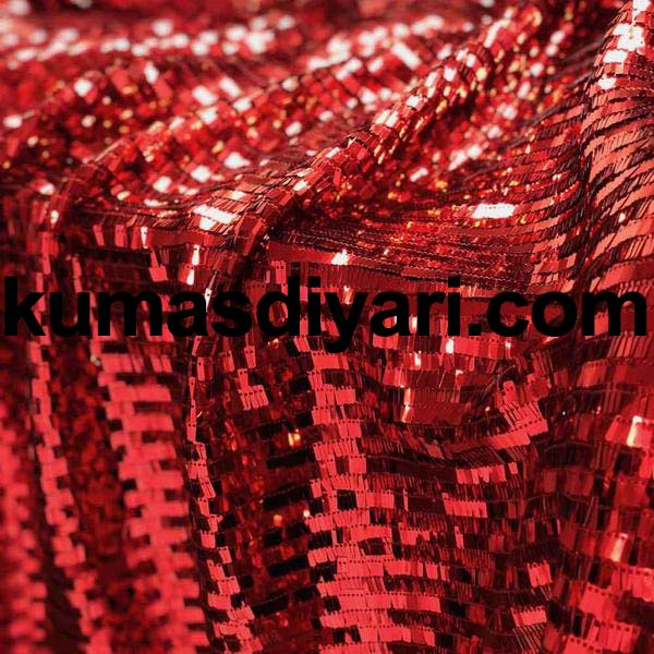 kırmızı piyano payet kumaş