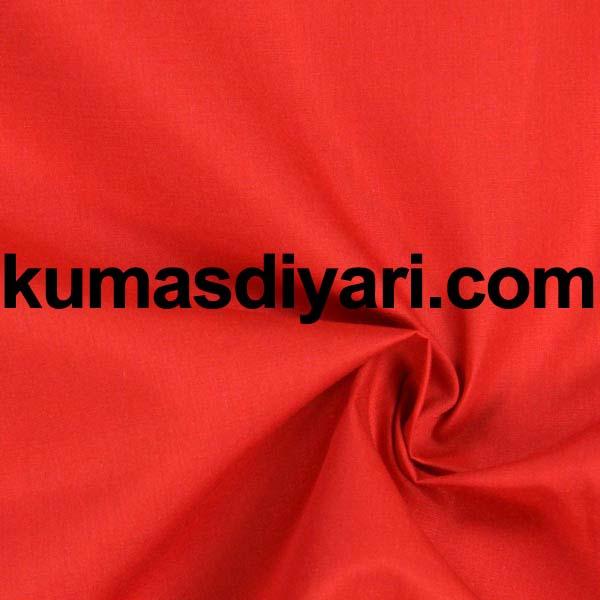 kırmızı poplin kumaş