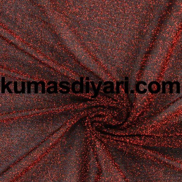 kırmızı simli kumaş