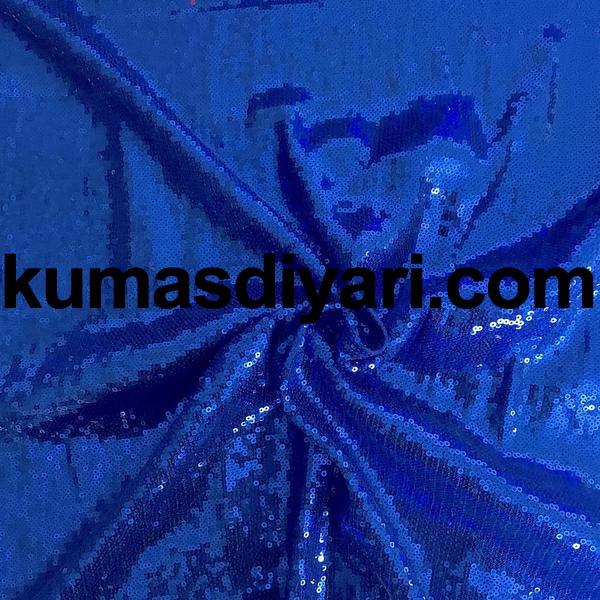 koyu mavi payet kumaş 3mm