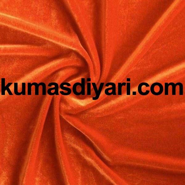 koyu turuncu kadife kumaş