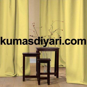limon sarısı fon perde kumaş