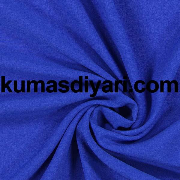 mavi krep kumaş
