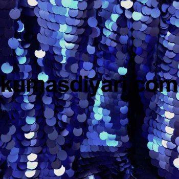 mavi payet kumaş 7mm