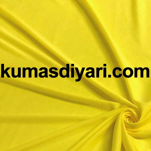 neon sarı interlok kumaş
