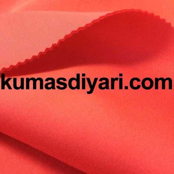 neon turuncu puf dalgıç kumaş