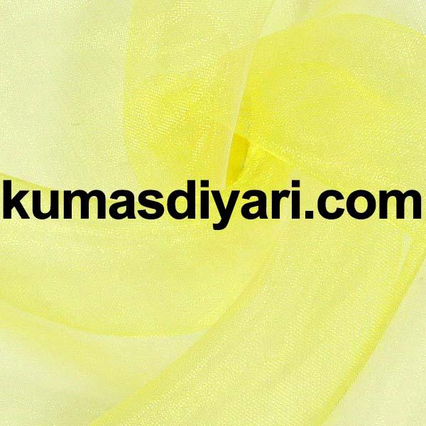sarı organze tül kumaş