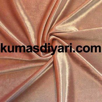 şeftali rengi kadife kumaş