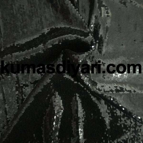 siyah payet kumaş 3mm