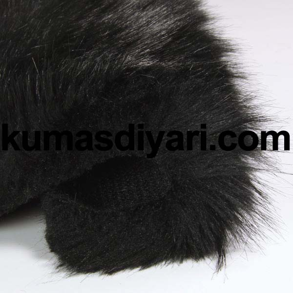 siyah peluş kumaş
