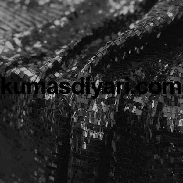 siyah piyano payet kumaş