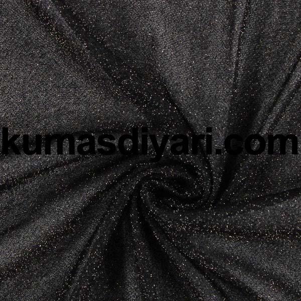 siyah simli kumaş