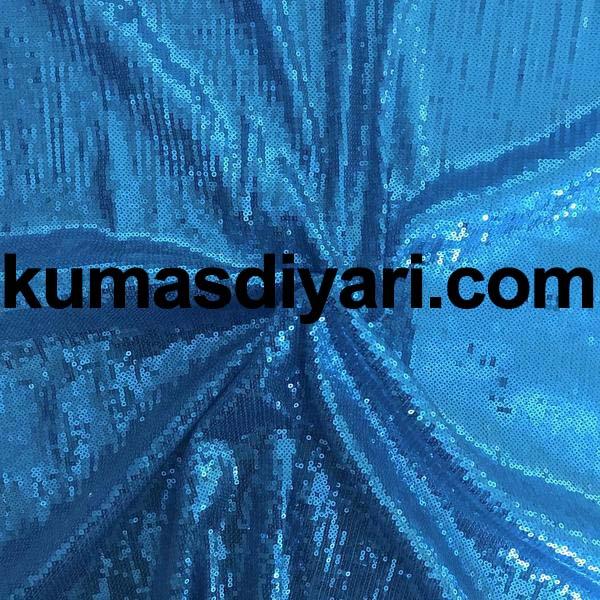 turkuaz payet kumaş 3mm