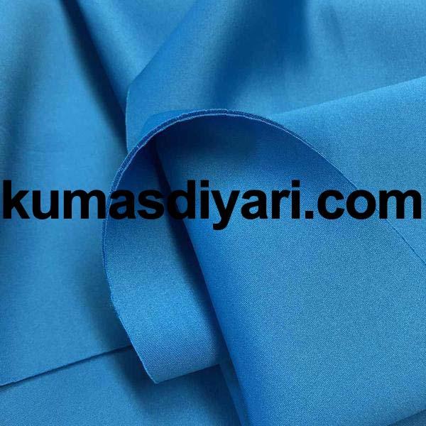 turkuaz puf dalgıç kumaş