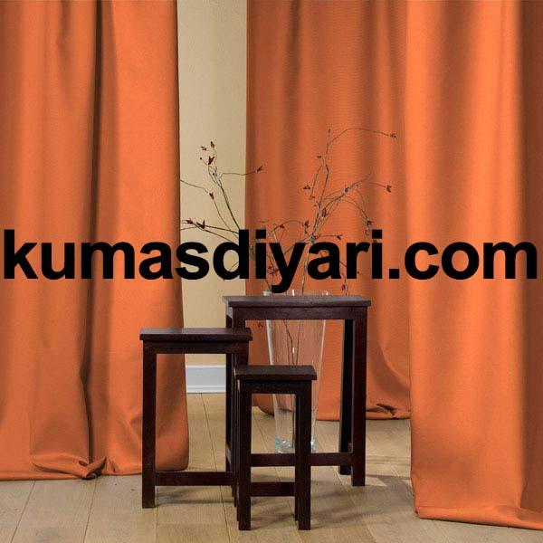 turuncu fon perde kumaş