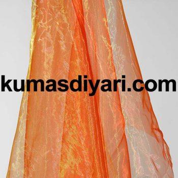 turuncu organze tül kumaş
