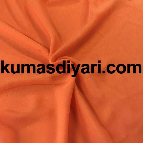 turuncu şifon kumaş
