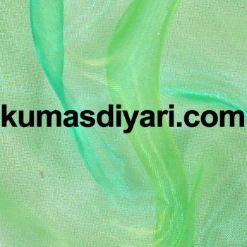 yeşil organze tül kumaş