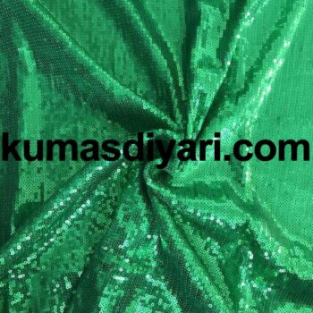 yeşil payet kumaş 3mm