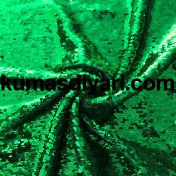 yeşil payet kumaş 5mm