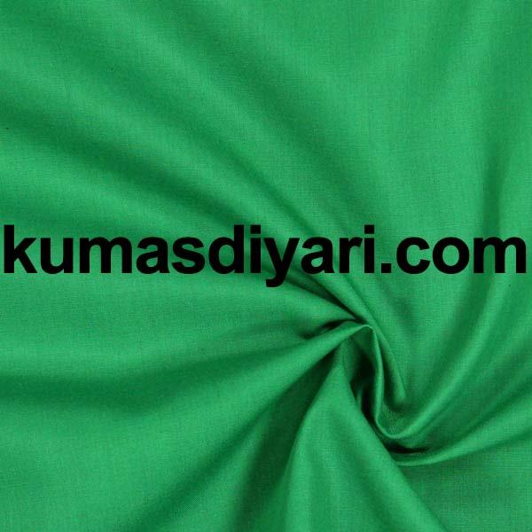 yeşil poplin kumaş