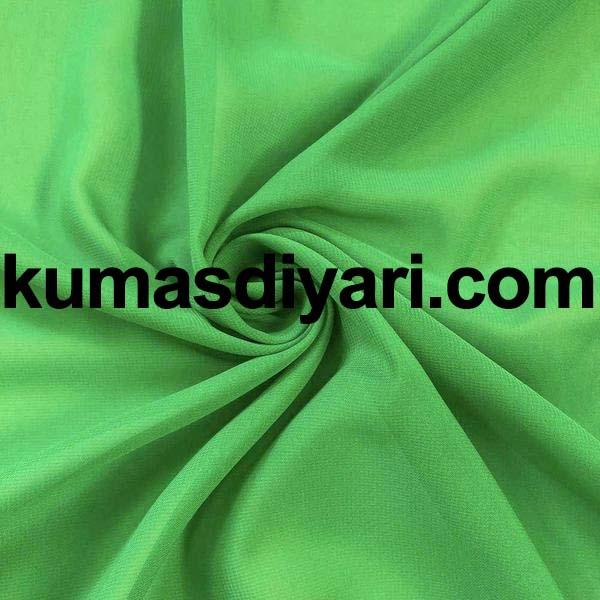 yeşil şifon kumaş