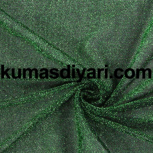 yeşil simli kumaş