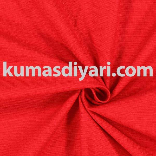 kırmızı flanel kumaş