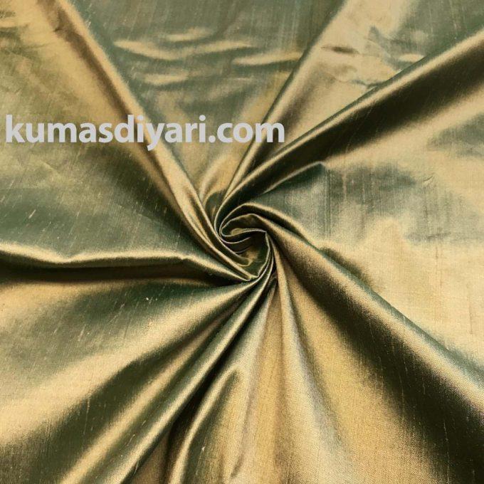 metalik yeşil şantuk kumaş