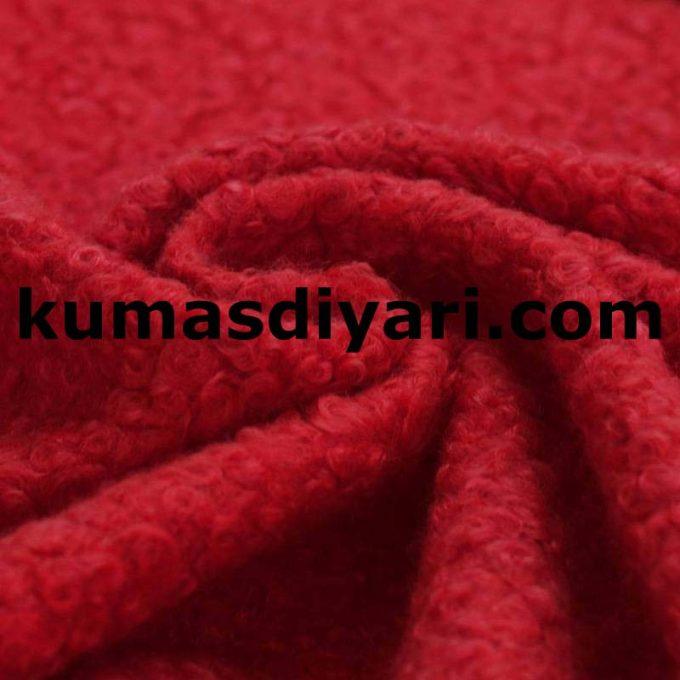 kırmızı buklet kumaş