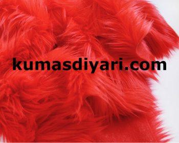 kırmızı peluş kumaş