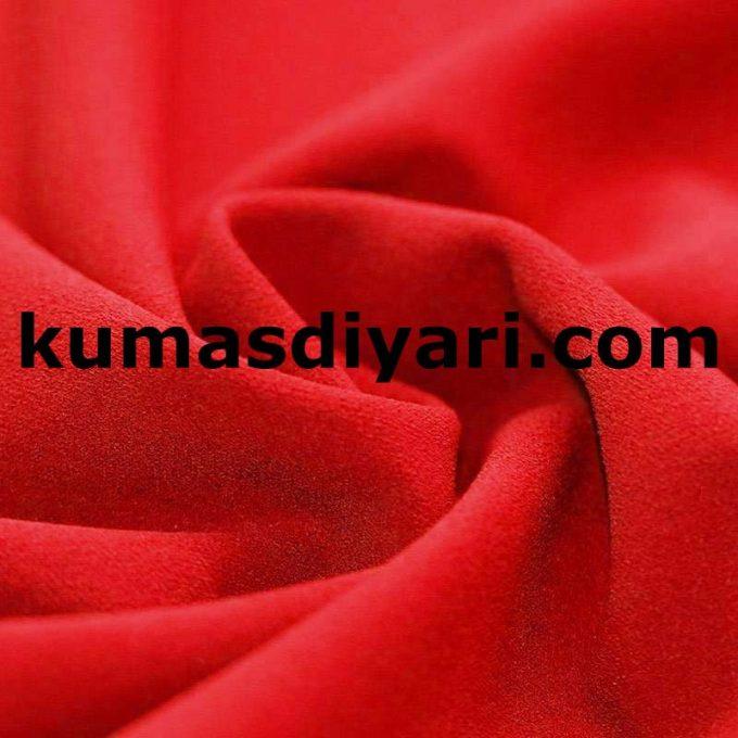 kırmızı scuba krep kumaş