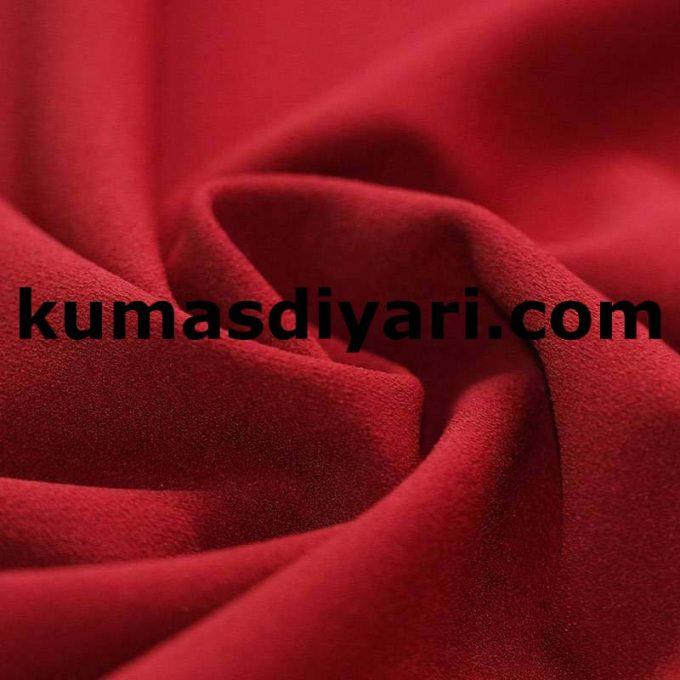 koyu kırmızı scuba krep kumaş