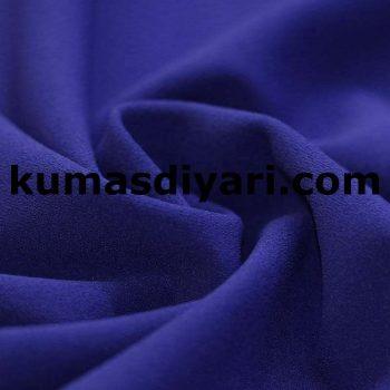 koyu mavi scuba krep kumaş
