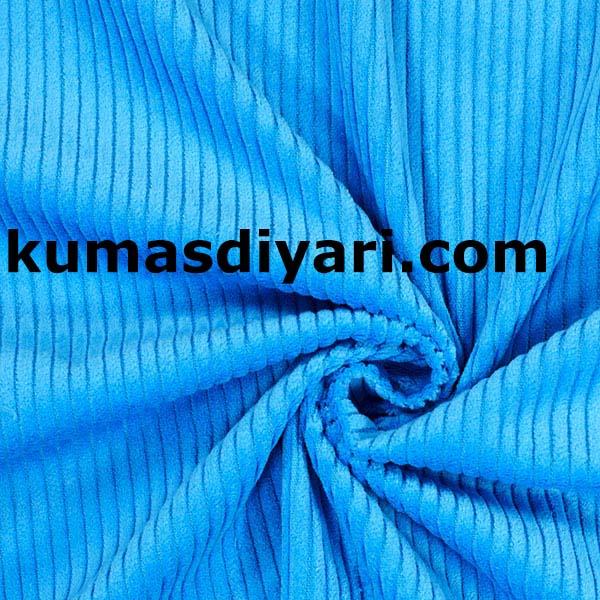 mavi fitilli kadife kumaş
